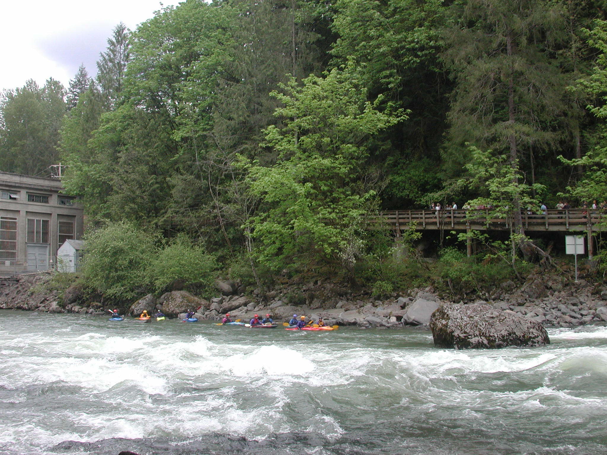 Paddlers on the Snoqualmie River
