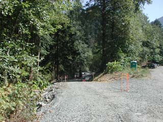 Photo of new road to river